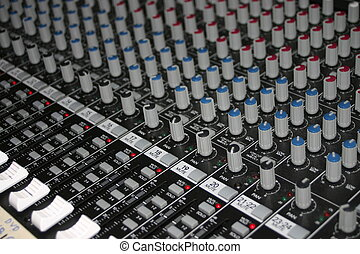 Studio mixer with focus on just some few of the levels