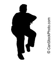 sitting silhouette - silhouette person in a sitting position...