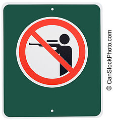 No Hunting - No hunting sign