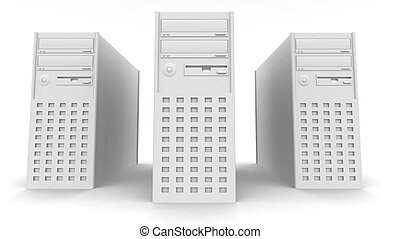 Computer Towers - 3D rendered PC Towers.