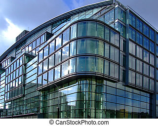 Corporate building - Public building on the corner of the...