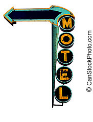 Motel Sign - Retro Motel Neon Sign