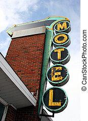 Motel Sign - Retro Motel Neon Sign
