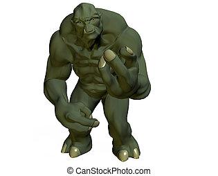 the troll - monster 3d render