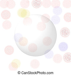 Orb pink background