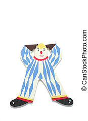 Clown Figure on white background with shadow