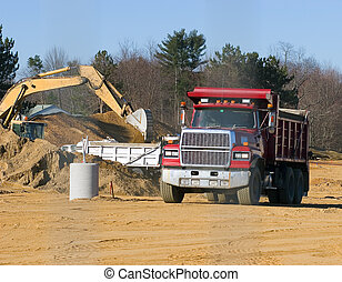 Dump Truck at Construction site