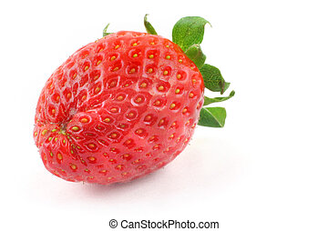 fresh delicious strawberry from a different angle