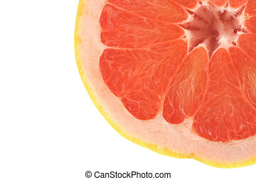 grapefruit profile on white