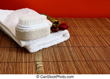 At the spa - health and beauty - Spa objects