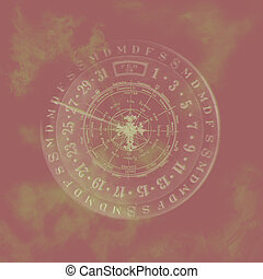 Abstract Zodiac Calendar Background