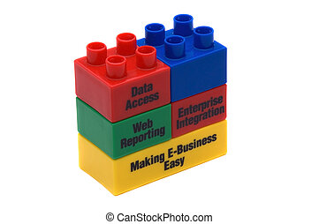 Building Blocks - Business Slogans On Childrens Building...