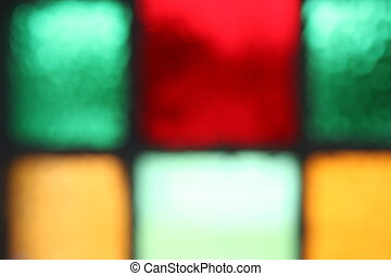 Colored Glass - mulit colored glass squares, soft focus