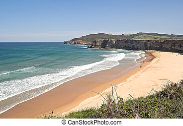 Beautiful Beach, Langre, Cantabria , Spain