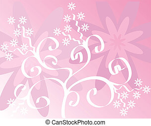 Spring background, vector - Spring background,  illustration