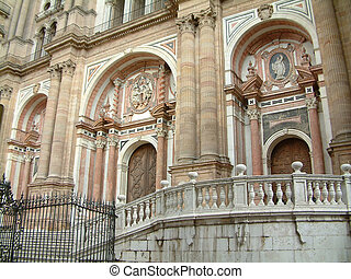 cathedral entrance - architecural detail at the entrance of...