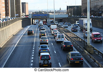 Traffic Jam, Glasgow, Scotland