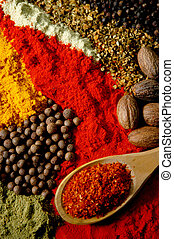 Spice Still Life - Arrangement of several spices and a...