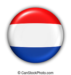 Netherland Flag - World Flag Button Series - Europe -...