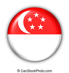 Singapore Flag - World Flag Button Series - Asia - Singapore...