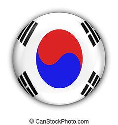 South Korea Flag - World Flag Button Series - Asia - S Korea...
