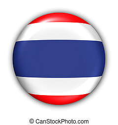Thailand Flag - World Flag Button Series - Asia - Thailand...