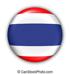 Thailand Flag - World Flag Button Series - Asia - Thailand...
