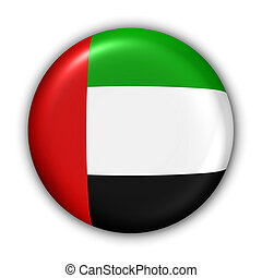 UAE Flag - World Flag Button Series - Asia/Middle East - UAE...