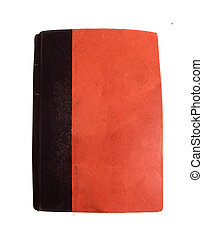 book cover - old red orange book cover ,