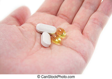 hand hold pills