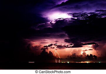 Lighting Storm - Long Exposer shot some grain visible in...