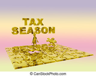 The puzzling tax season - Tax inspector helping you with the...