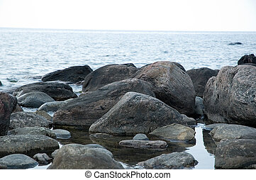 Rocks - Lake shore with stones