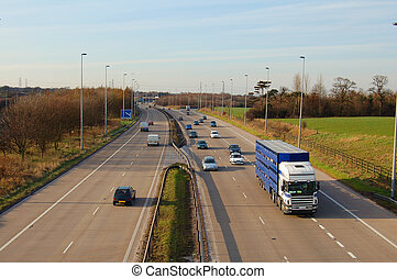 Daytime Traffic - Motorway Traffic in the daytime on a UK...