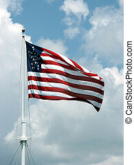American Flag - american flag with pole