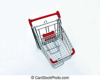 Empty shopping cart from above
