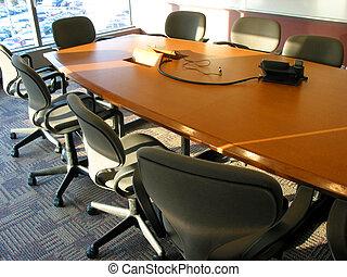 negócio, reunião, sala