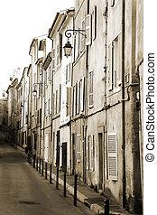 Aix-en-provence #15 - A backstreet in Aix-en-Provence,...