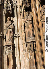 Aix-en-provence #17 - Some of the statues of Cathedrale...
