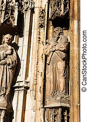 Aix-en-provence #18 - Some of the statues of Cathedrale...