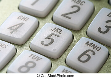 Phone keypad close up