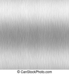 Brushed Aluminum - A high-tech brushed aluminum steel...