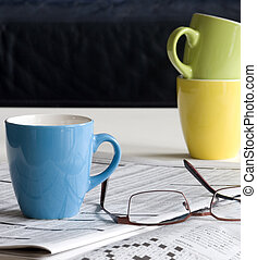 crossword puzzle - puzzle with coffee