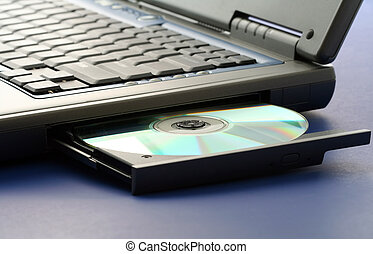 CD ROM in a laptop