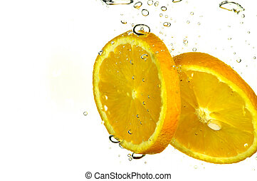 Orange slice splash - orange slice