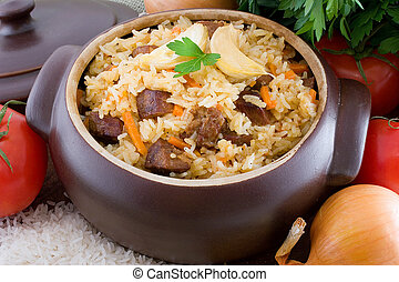 Pilaf is a classic Middle Eastern and Central Asian dish