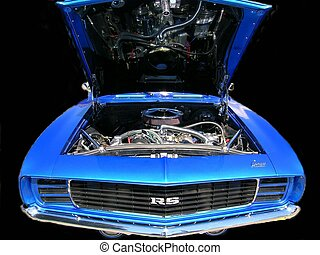 Electric Blue - Chevy Camaro, 1969