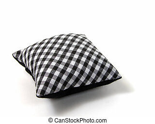 Pillow isolated over white background with shadows