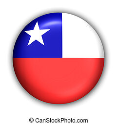 Chile Flag - World Flag Button Series - South America -...