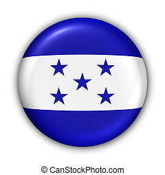 Honduras Flag - World Flag Button Series - Central...